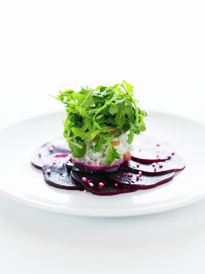 Winter Root Vegetable Salad With Beets Photograph by Thomas Barwick