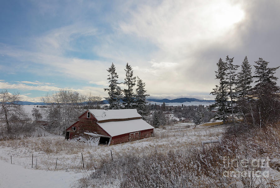 Winter Rustic by Idaho Scenic Images Linda Lantzy