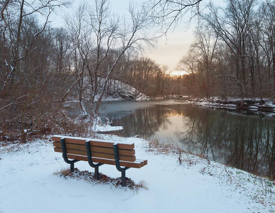 Winter Seat With a View of the Fading Warmth by David Lamb