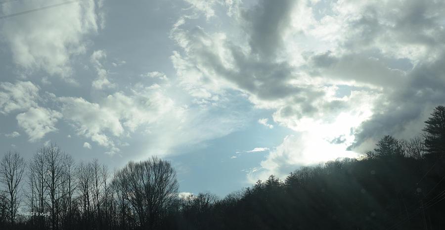 Winter Sky - Western North Carolina by Paulette B Wright