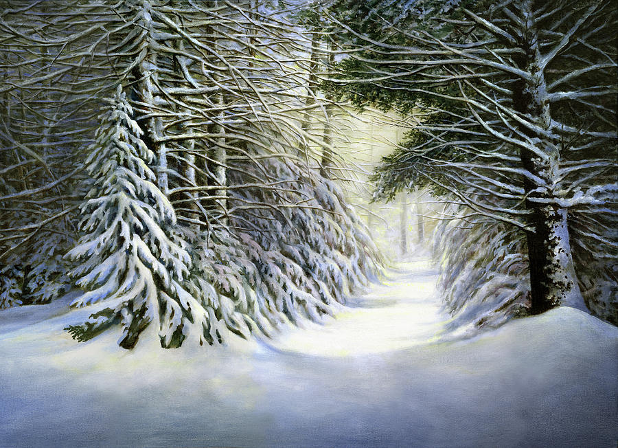 Winter Song Painting - Winter Song by John Morrow