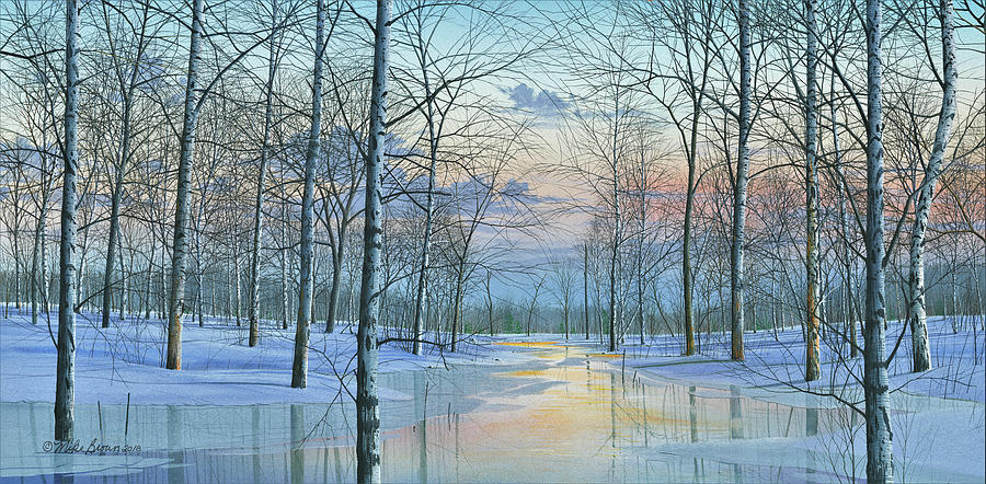 Winter Scene Painting - Winter Spectacle by Mike Brown