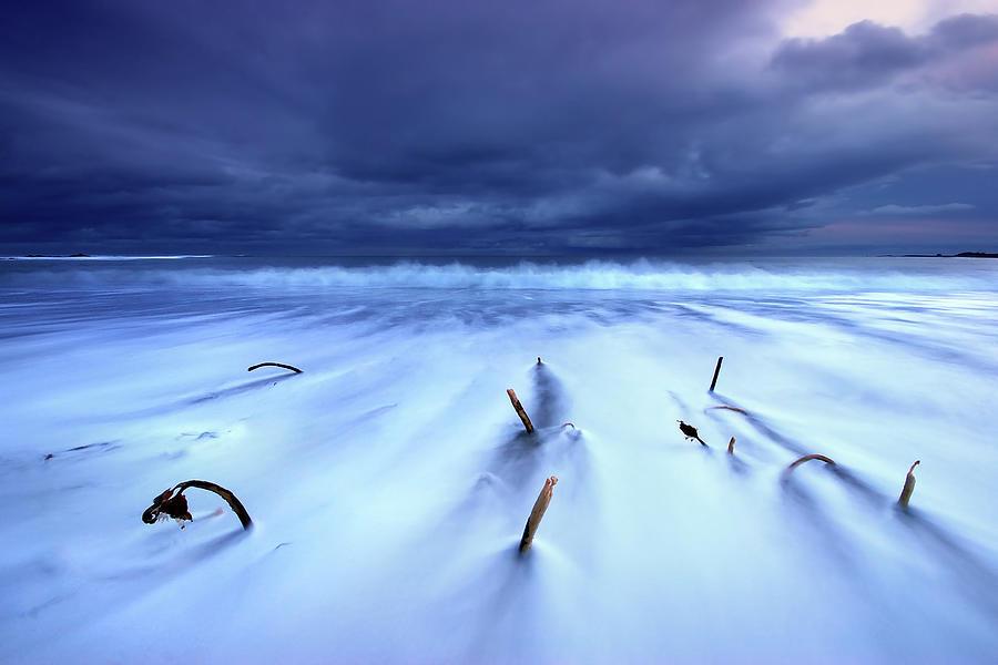 Winter Storm, Dunbar, East Lothian Photograph by Scott Masterton