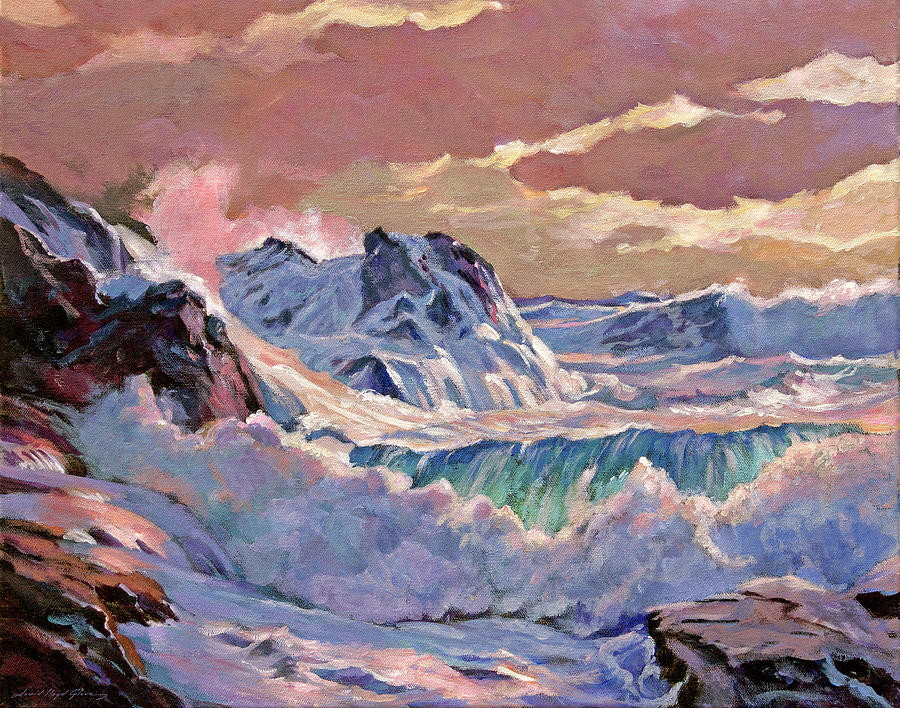 Winter Storm Oregon Coast Painting