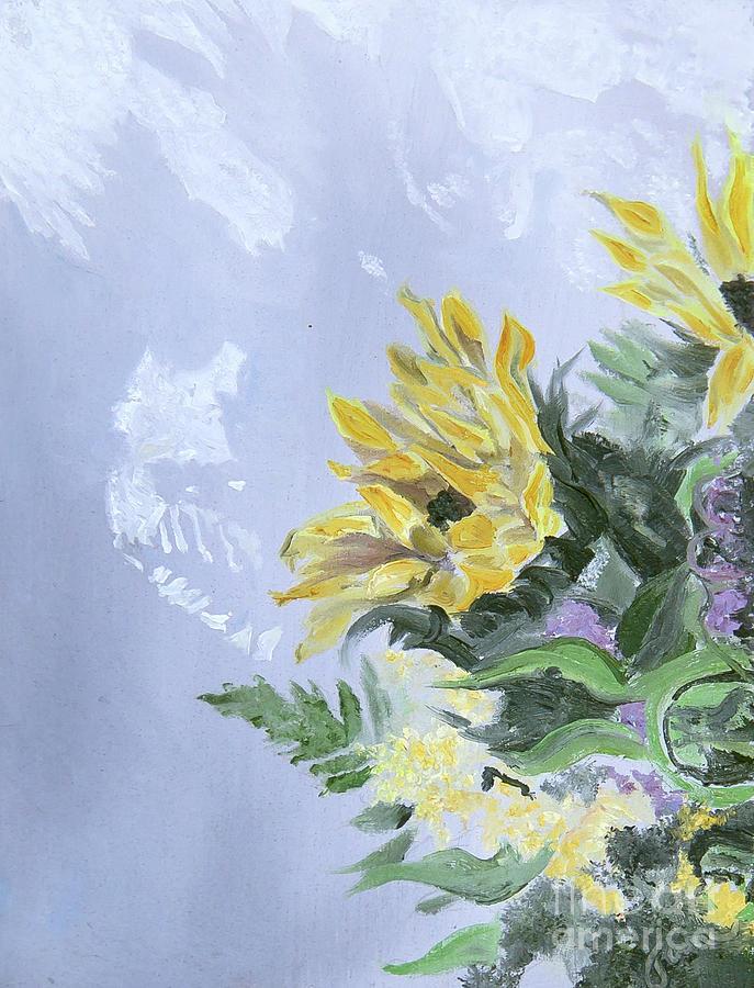 Winter Sunflower Bouquet by Nila Jane Autry
