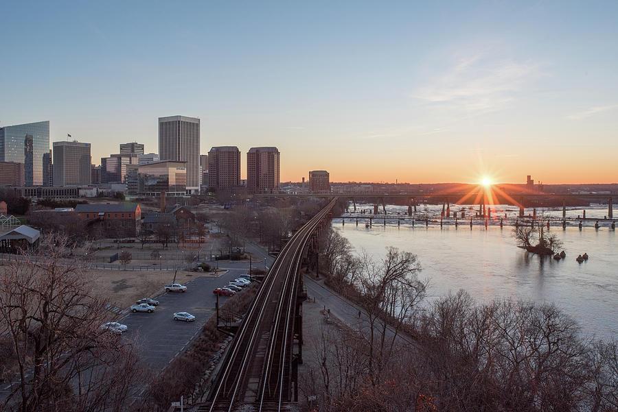 Winter Sunrise Overlooking Richmond Virginia by Doug Ash