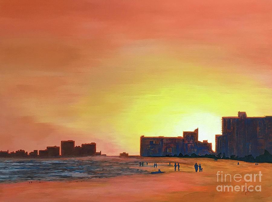 Winter Sunset N Myrtle Beach SC by Aicy Karbstein