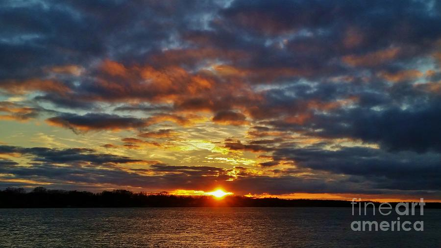 Wny Photograph - Winter Sunset Over Grand Island by Tony Lee