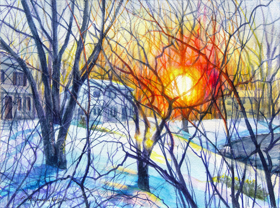 Winter Sunset by Patricia Allingham Carlson