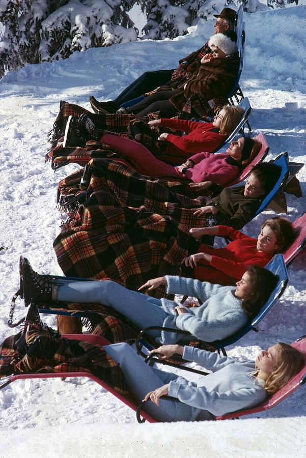 Winter Suntans Photograph by Slim Aarons