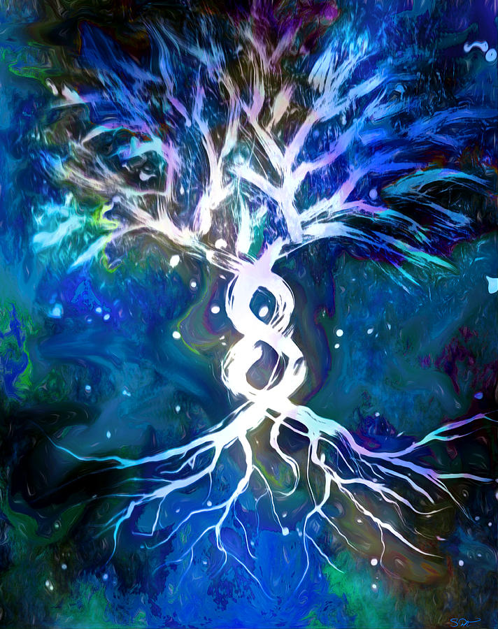 Winter Tree Of Life by Abstract Angel Artist Stephen K