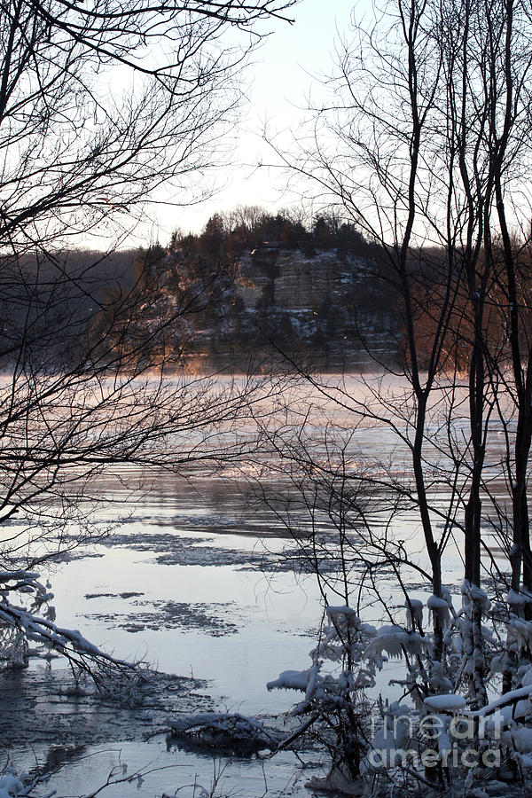 Winter View of The Rock by Paula Guttilla