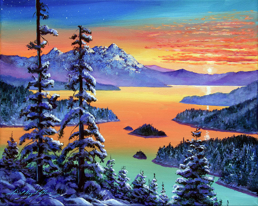 Winter Vista Painting