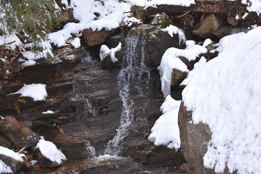Winter Waterfall in Indian Well State Park by Nina Kindred
