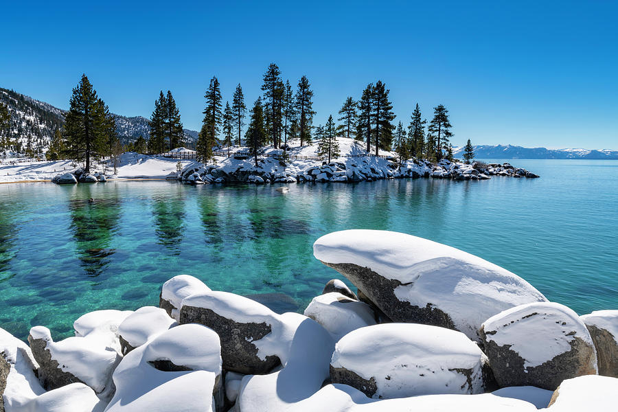 Winter Wave - Sand Harbor Lake Tahoe by Brad Scott by Brad Scott