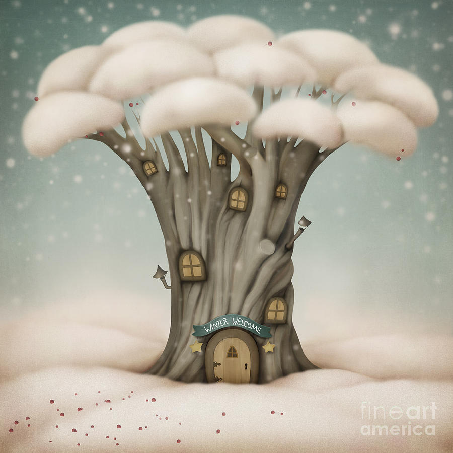 Heat Digital Art - Winter Welcome by Larissa Kulik