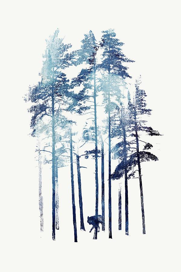 Wilderness Painting - Winter Wolf by Robert Farkas