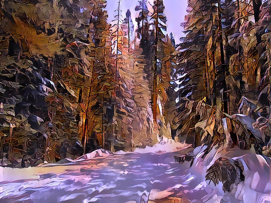 Winter Digital Art - Winter Wonderland by Artly Studio