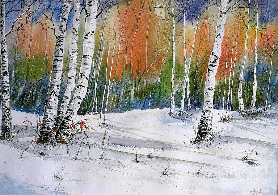 Snow Painting - Winter Wonderland by Midge Pippel