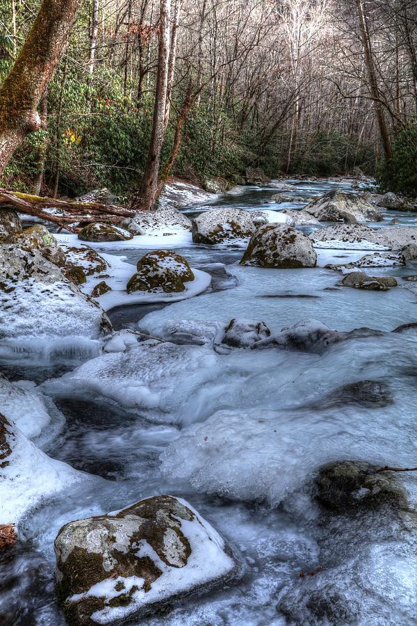 Winter's Frozen Landscape Big Creek by Carol Montoya
