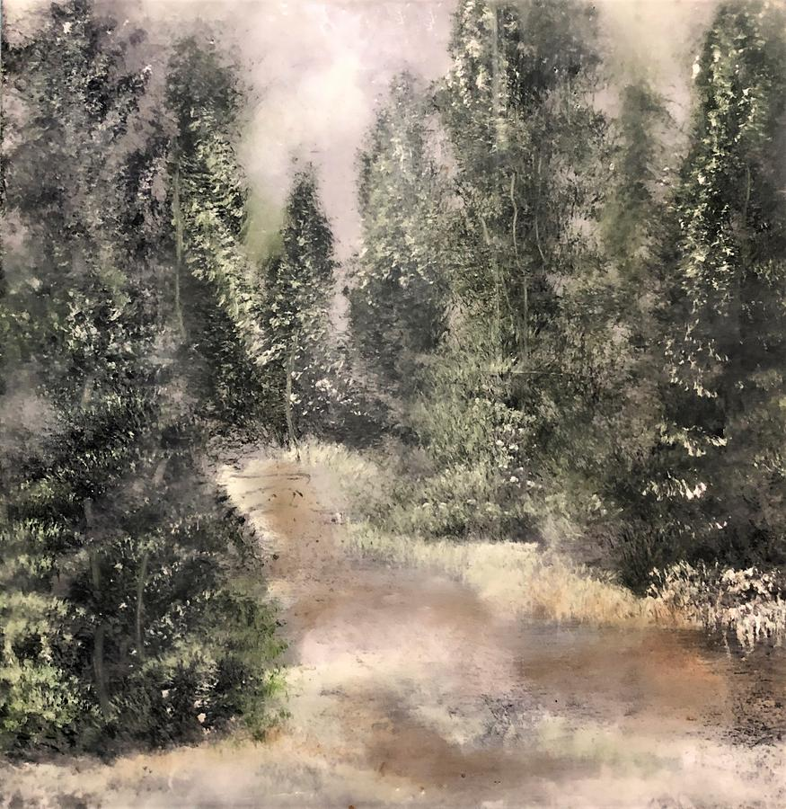 Forest Painting - Winters Silence by Christine Johanns