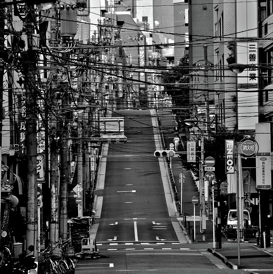 Wire Street In Yushima Photograph by Sinkdd