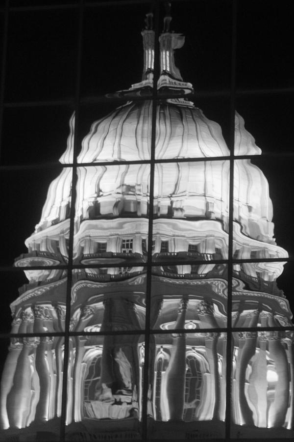 Wisconsin Capitol Photograph - Wisconsin Capitol Dome Reflection by Callen Harty