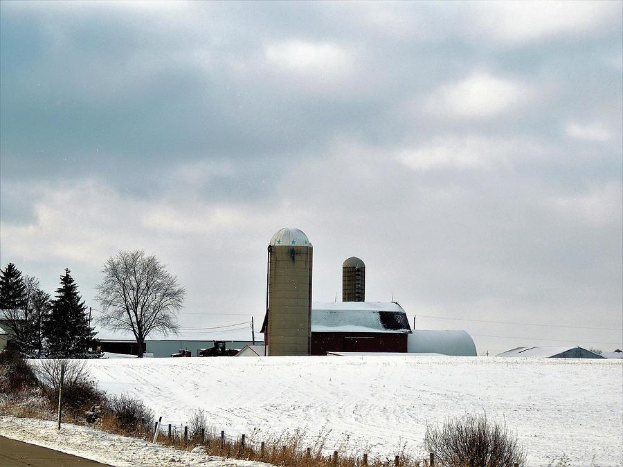 Wisconsin Farm In Winter Photograph