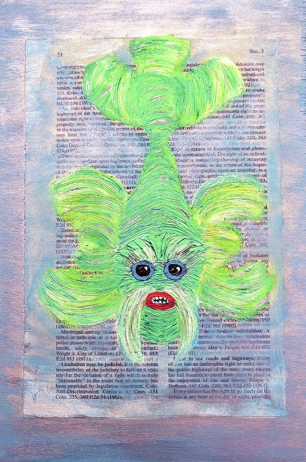Green Painting - Wisdom  by Misty Morehead
