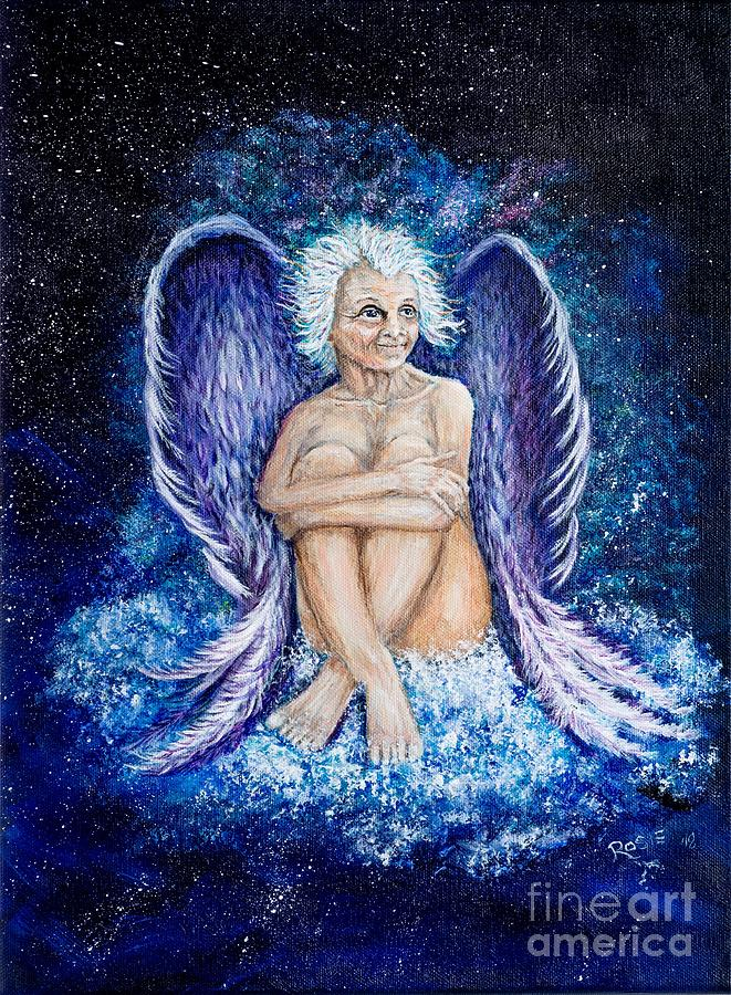 Angel Painting - Wisdom of the Ages by Rosie Kuhn