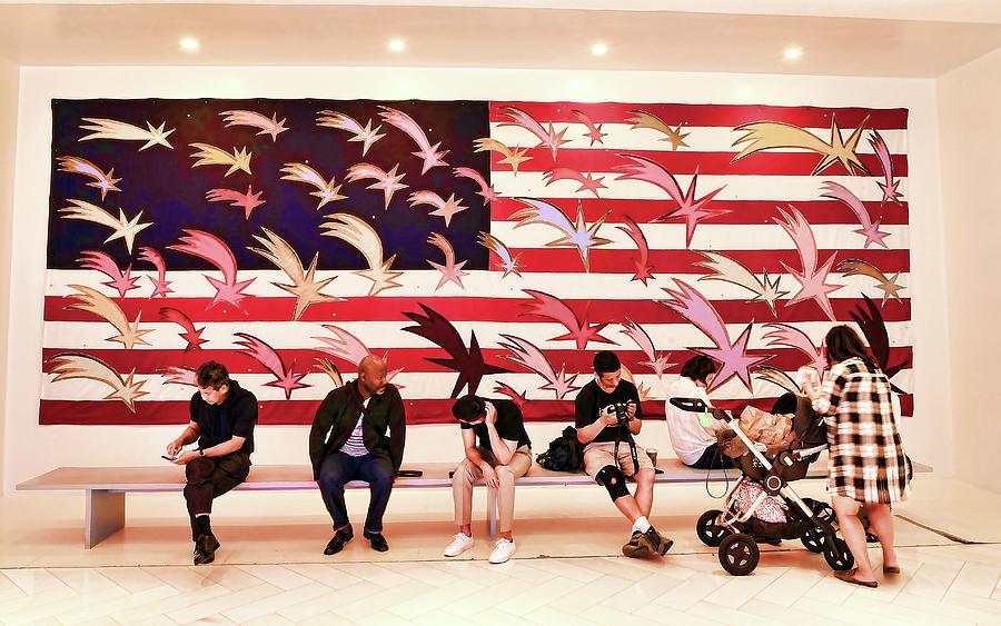 Wishing Stars American Flag Mural by Allen Beatty