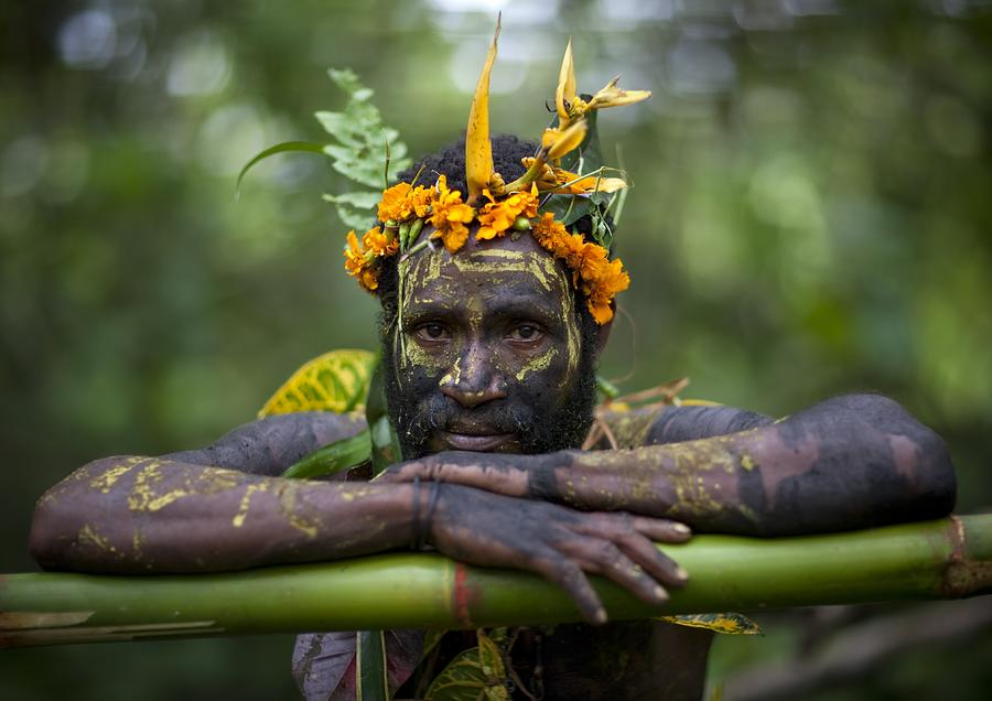 Witchdoctor In Ulul Village In New Photograph by Eric Lafforgue