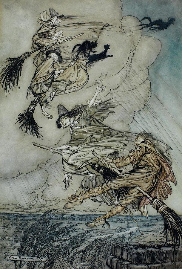 Arthur Rackham Painting - Witches, 1907 by Arthur Rackham