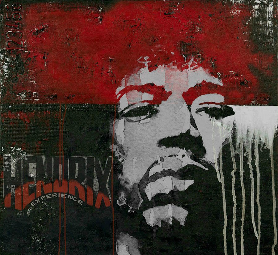 Jimi Hendrix Mixed Media - With A Circus Mind Thats Running Wild - Jimi Hendrex by Paul Lovering