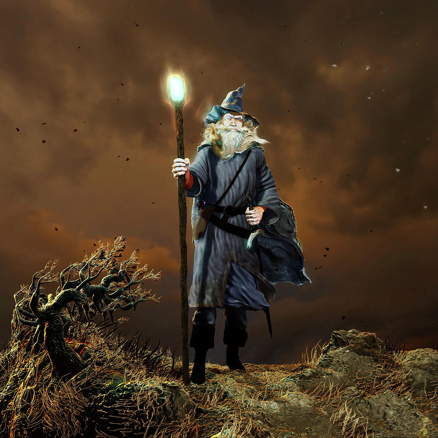 Wizard Composition 1 by Dave Luebbert