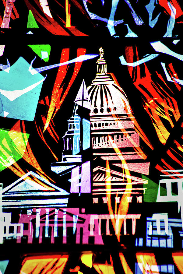 WNC Capitol Abstract by Don Johnson