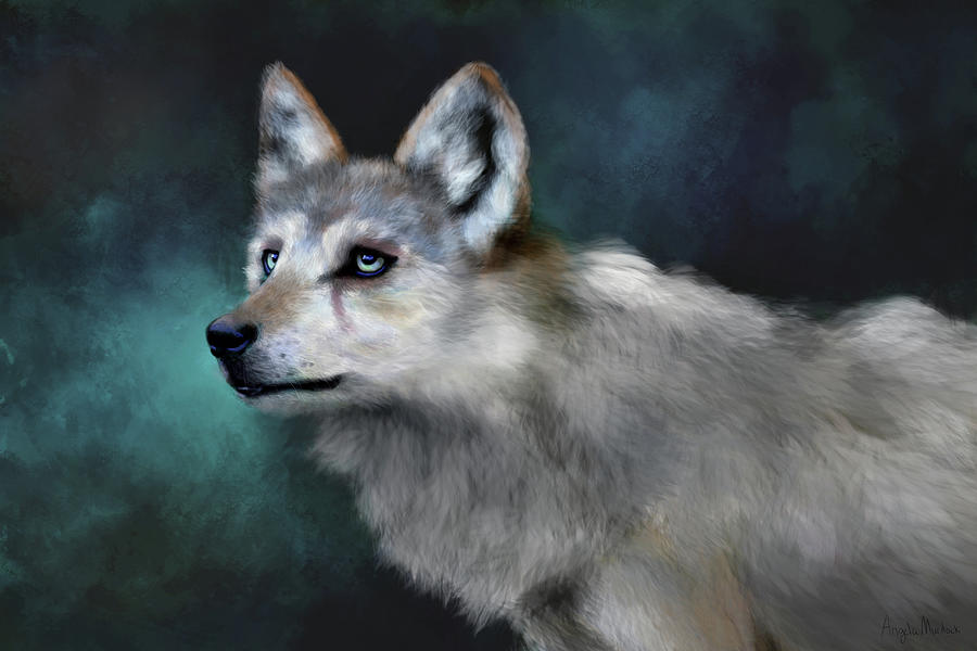 Wolf Art by Angela Murdock