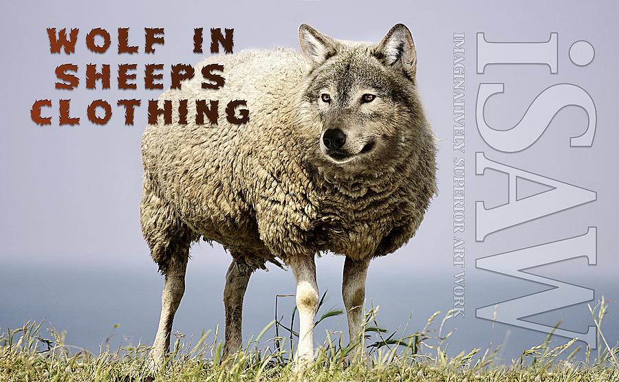Wolf In Sheeps Clothing Digital Art