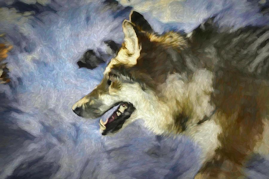 Wolf Digital Art - Wolf Storm by Ernie Echols