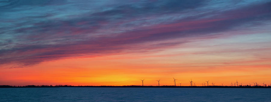 Wolfe Island Sunset by Mark Papke