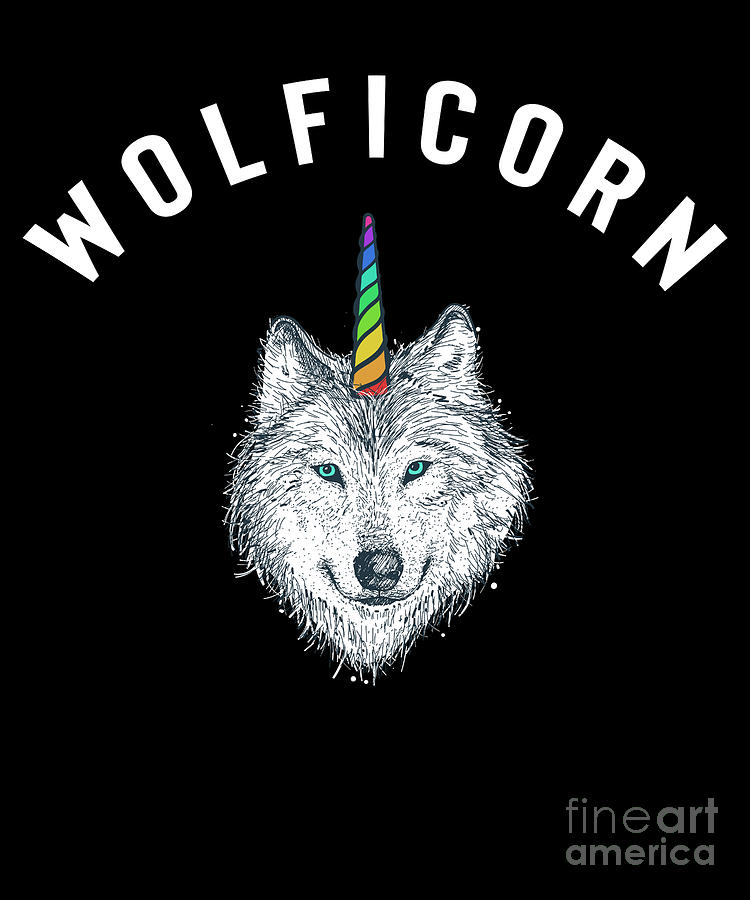 Wolficorn T Shirt Wolf Unicorn Halloween