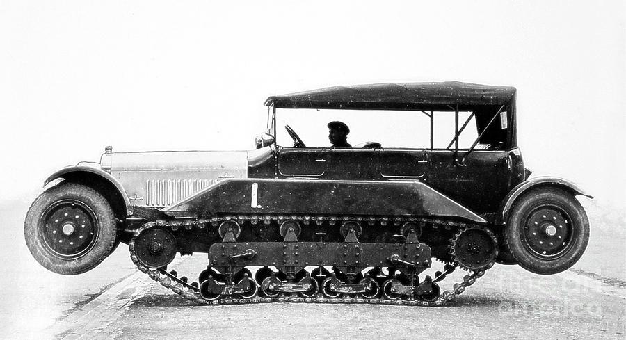 Wolseley Vickers Wheel Cum Track Car - 1927 by Doc Braham