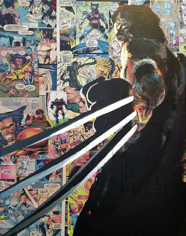 x men wolverine comic collage art iphone case
