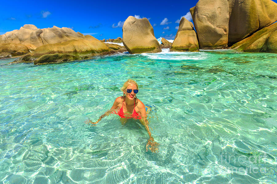 Woman at Anse Marron by Benny Marty