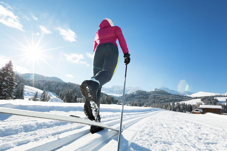 Woman Doing Cross-country Skiing Photograph by Tomml