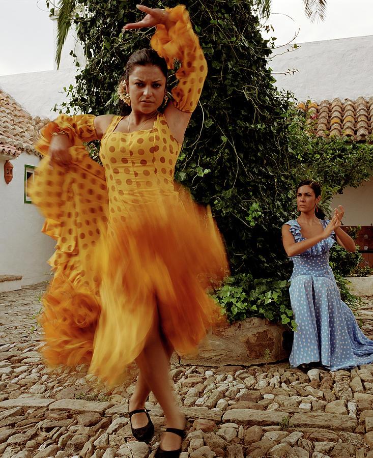 Woman Flamenco Dancer, Outdoors Photograph by Tim Macpherson