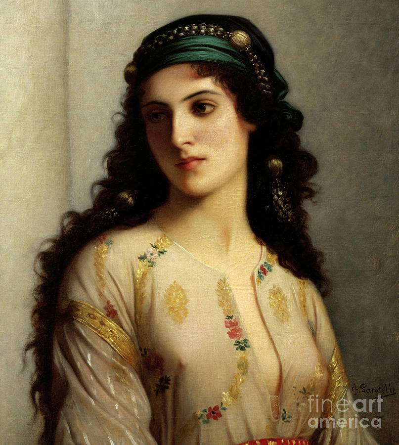Morocco Painting - Woman From Tangier by Charles Landelle