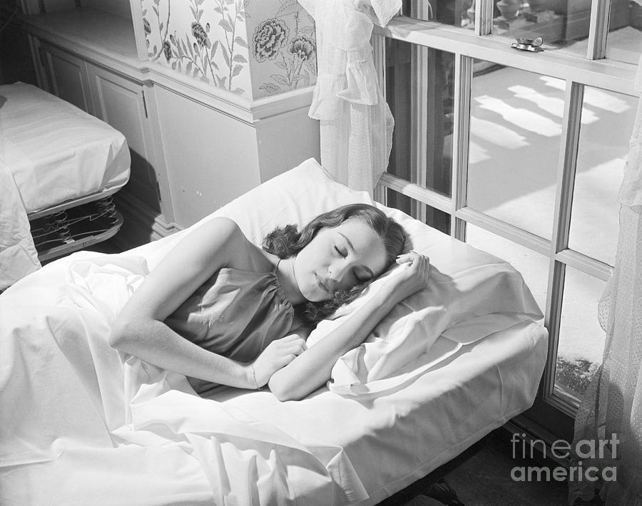 Woman Getting Her Beauty Sleep At Spa Photograph by Bettmann