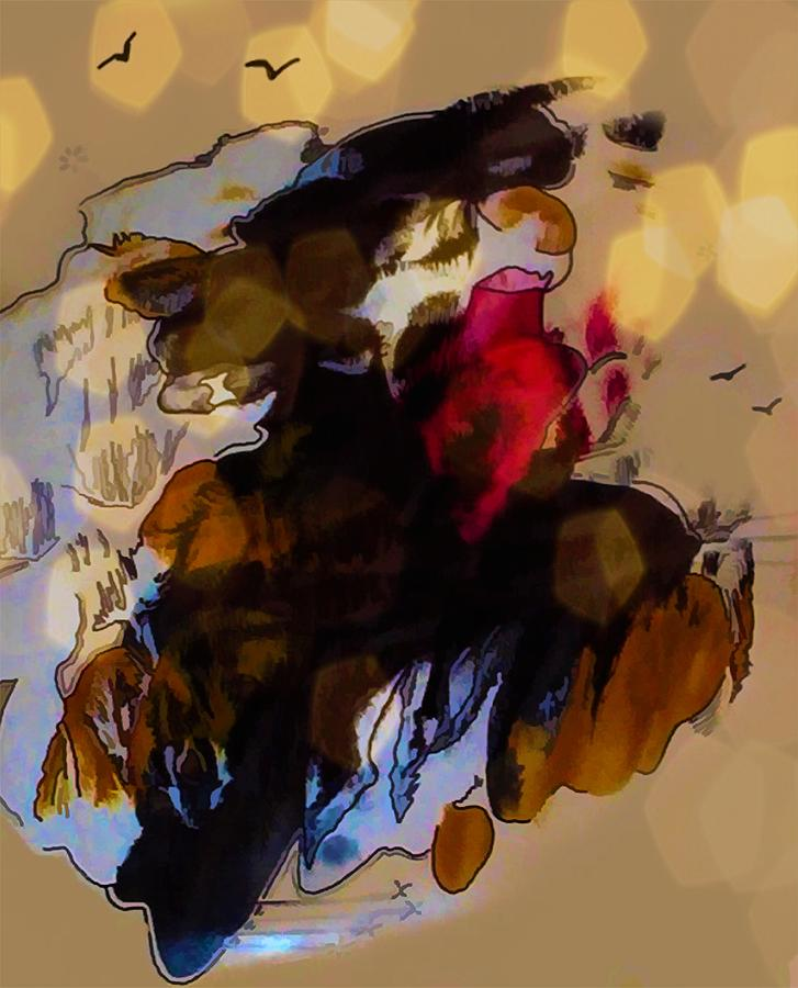 Woman In A Hat With Her Heart On Her Sleeve by Joan Stratton