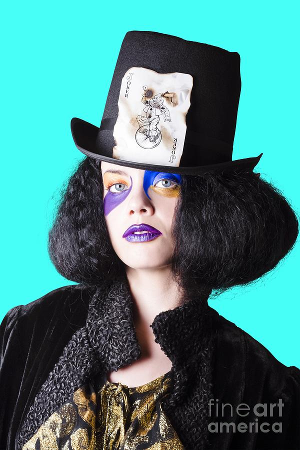 Make-up Photograph - Woman In Joker Costume by Jorgo Photography - Wall Art Gallery